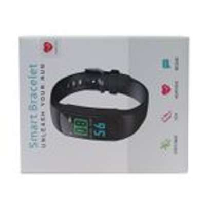 Health Bracelet Y5 Heart Rate Monitor Bluetooth Smart Watch Water Proof Fitness Tracker For Android & iPhone- Black image 2