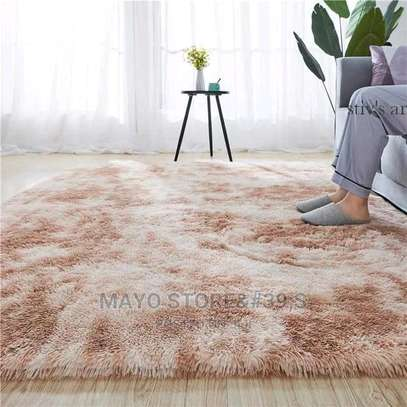 Patched Soft Fluffy Carpets image 1