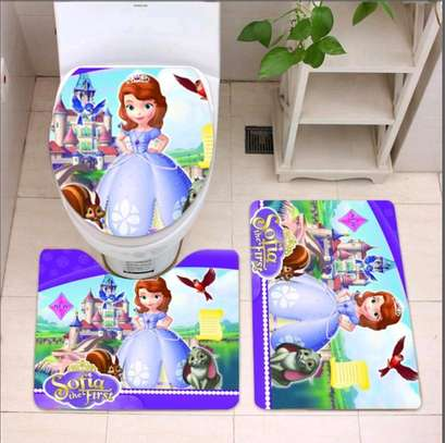 Cartoon themed bathroom mat sets image 4