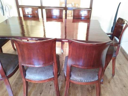 8 Seater Mahogany Dining Sets. (Vintage look) image 2