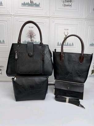 Black leather handbags image 1
