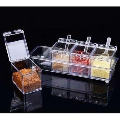 Acrylic Seasonings Box silver image 1