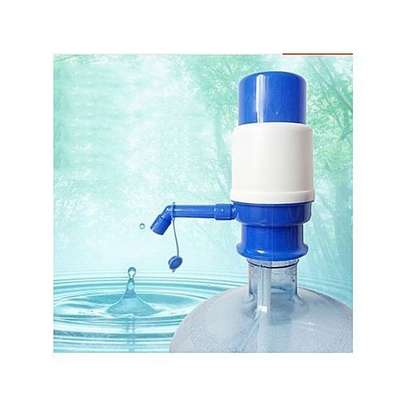 Hand Press Water Dispenser Manual Pump For Bottled Water - Blue