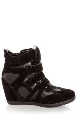 Wild diva lounge black wedge sneakers: size 8