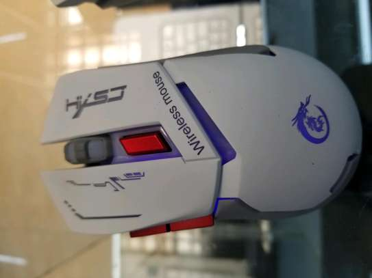 wired & wireless rechargeable gaming mouse image 4