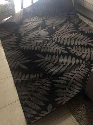 A Modern Black and Grey Carpet image 1