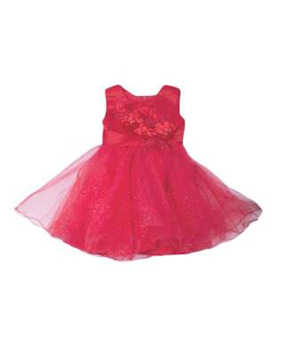 Red tutu skirt with prewalkers for baby girl 0-12mths image 2