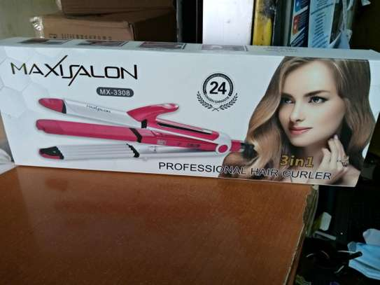 3 in 1 hair straightener tong image 1
