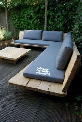 Six seater outdoor furniture/outdoor furniture designs/pallets/sofas/modern outdoor furniture image 2