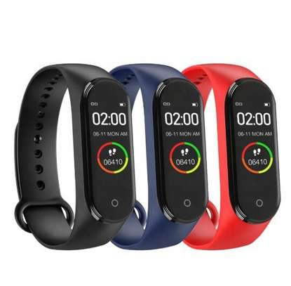 Smart Fitness Watch Bracelet M4 Tracker Band Activity Heart Rate Monitor image 1