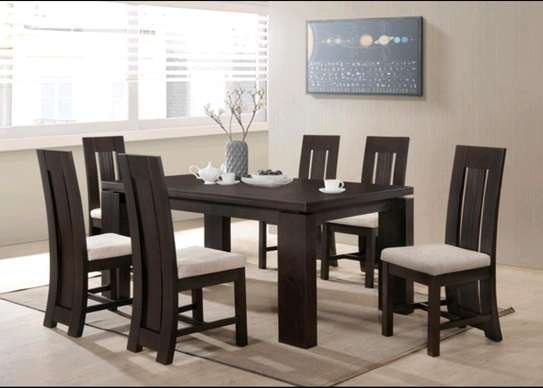 Hard wood dinning set .. image 1