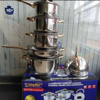 12pcs Stainless Steel Cookware image 1