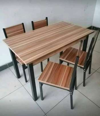 Metallic/MDF boards dining tables image 1