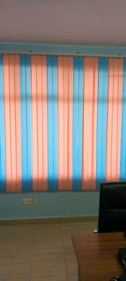 new Office vertical blinds (blue pink image 1