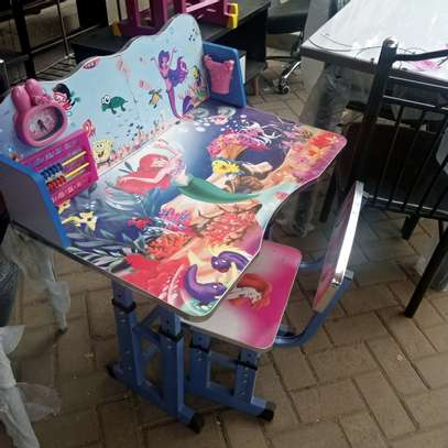 Cartoon kids study  desk image 4