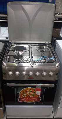 Von Hotpoint TF.6131.G2.Y/F6S31E2.I 3 Gas + 1 Electric Cooker - Stainless Steel image 1