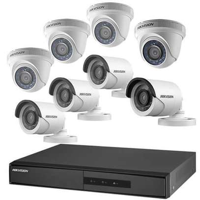 Hikvision Full Set 8ch 720P CCTV Camera Package (8Ch System) by Hikvision