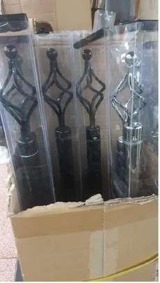 curtain rod single black 2m image 1