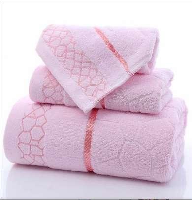 3 piece towels Cotton image 1