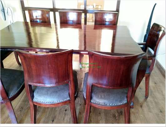 Antique mahogany dining table image 2