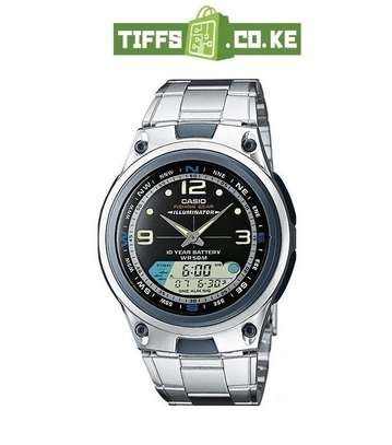 Casio Men's Ana-digi Dial Stainless Steel Band Watch – AW-82D-1AVDF