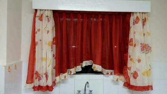 Designed kitchen curtains image 7