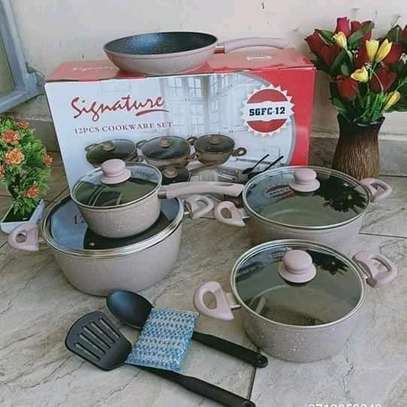 12 Pieces granite Cookware set image 1
