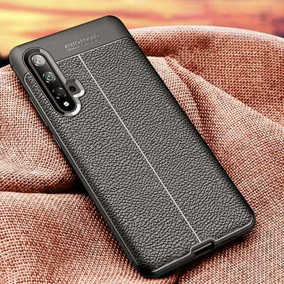 Auto Focus Leather Pattern Soft TPU Back Case Cover for Huawei Nova 5T image 3