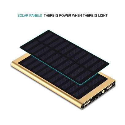 Solar Power Bank 10000 MAh, Portable Design, Convenient, Easy To Use image 1