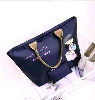 Ladies Canvas Handbags(2 in 1) image 1