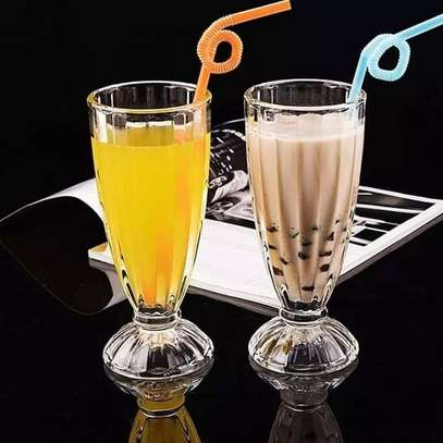 6 pieces milkshake glasses image 2