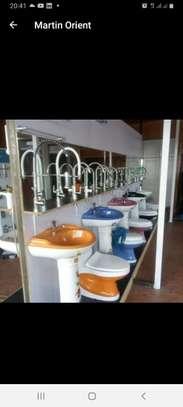 Close couple toilet & sink set image 6