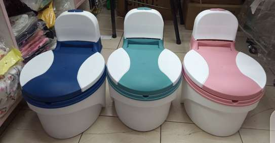 Children Simulation Toilet Infant Pony Bucket Potty Seat with Removable Inner Bucket image 1