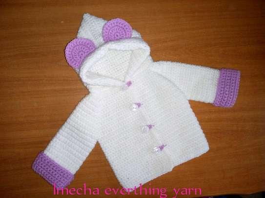 Crochet hooded coat image 2