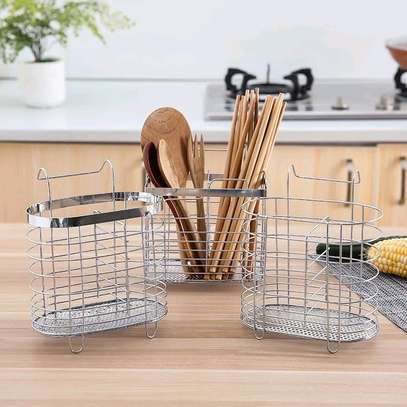 steel cutlery holder image 1