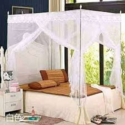 White Metallic Mosquito Nets