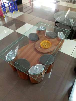 Glasstop coffee tables. image 1