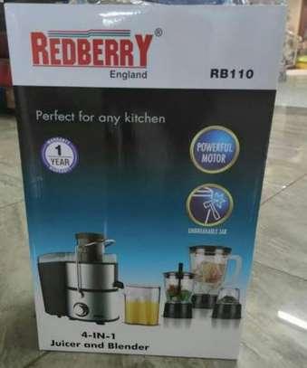 Redberry 4 in 1 juicer, grinder and blender image 1