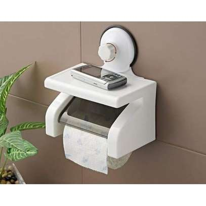 Waterproof Tissue Holder With Phone Holder N Suction image 2