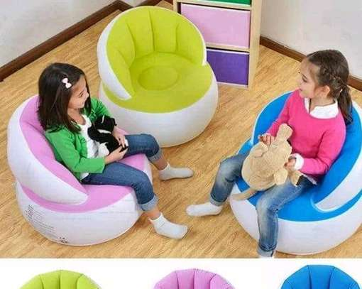 Kids colourful inflatable seats image 1