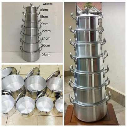14Pcs Heavy Stainles Aluminium Cooking Pot Sufuria image 1