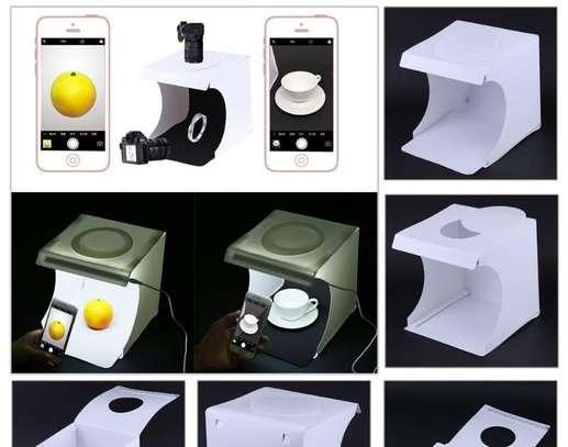 Portable foldable light box/ mini LED studio photo box/ Instant home photo studio image 1