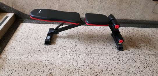 Flat incline decline dumbbell bench image 1