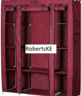 Maroon Portable Wardrobe image 1