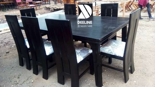 Black 8 Seater Dining Table Sets image 3