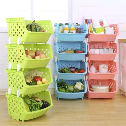 Fruits and vegetables rack image 1