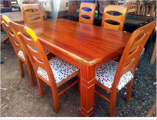 Mahogany dining table image 9