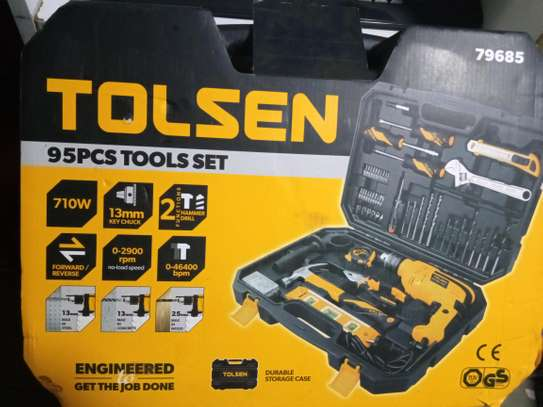 TOOLKIT WITH DRILL SET image 1