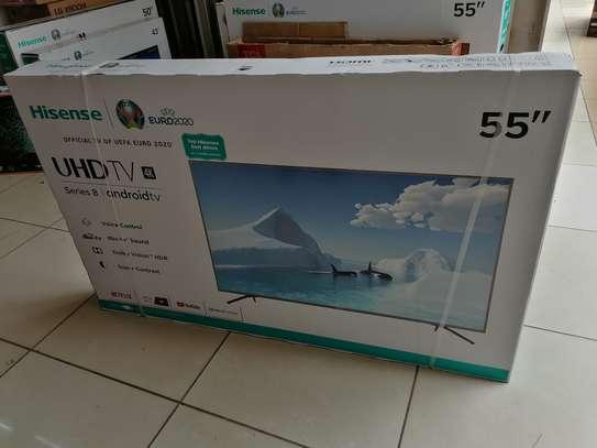 Hisense 55 inch smart android 4k led TV image 1