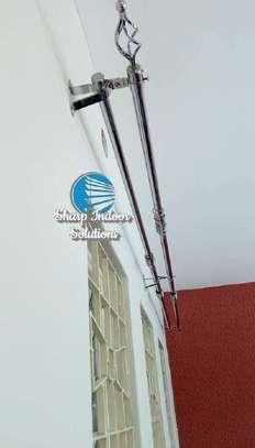 2m single curtain rods image 3